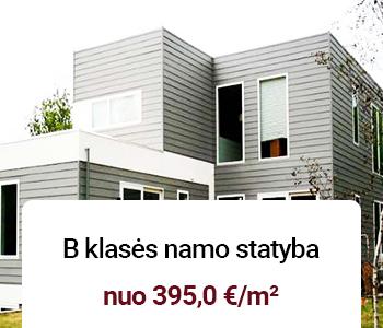b klases namo statyba