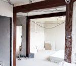sienos sustiprinimas plienine konstrukcija
